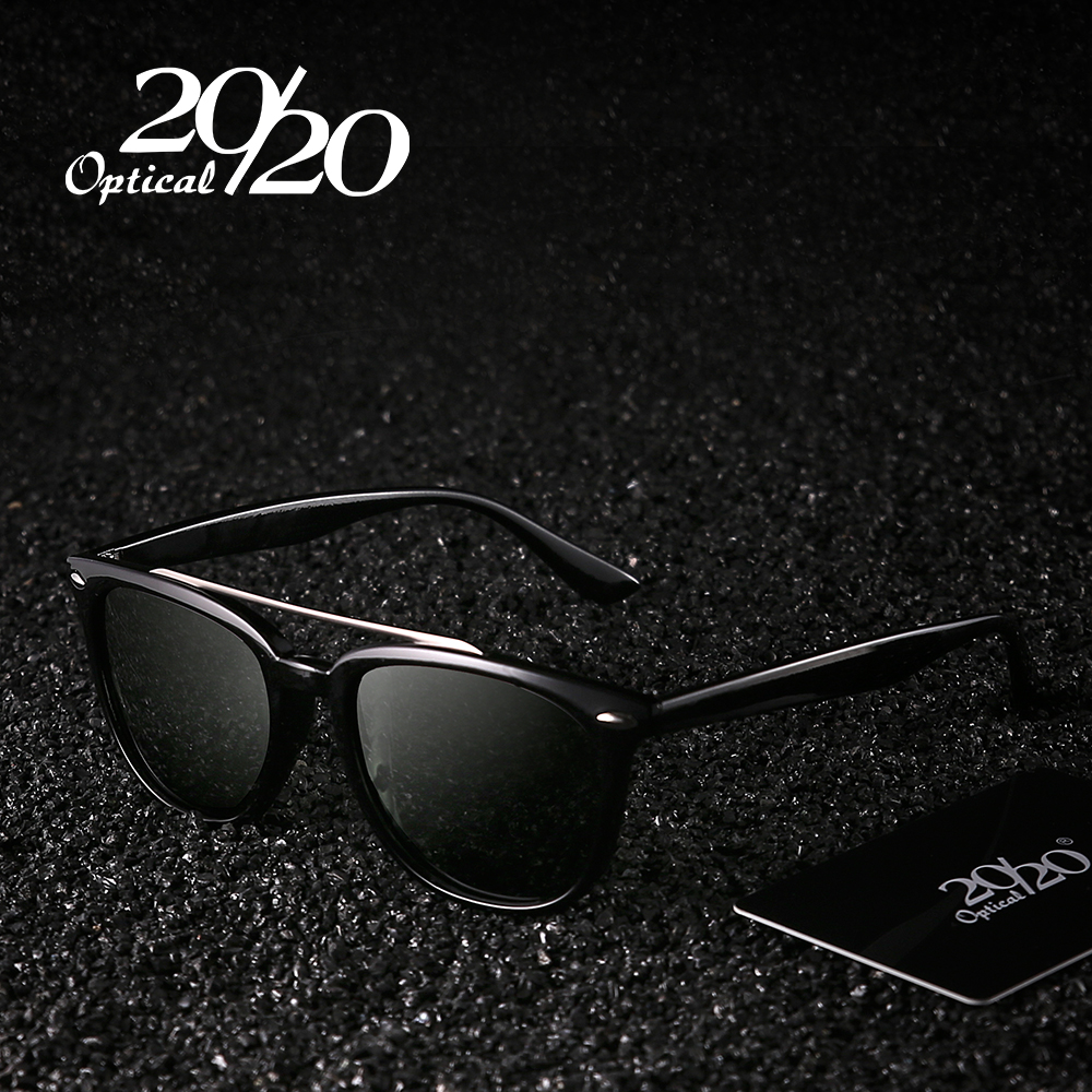 20/20 Brand Fashion Sunglasses Men Polarized Driving Double-Bridge Black Sun Glasses Male Oculos Gafas Eyewear PL308