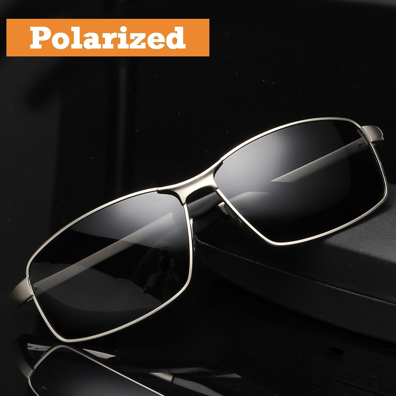 2017 Men's Polarized Sunglasses for Drivers Cool Rectangle Driving Sun Glass Fashion UV400 Eyewear Accessories for Male 8541