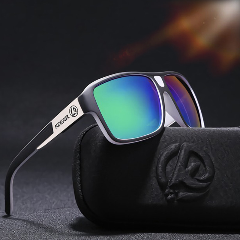 KDEAM Sports Oversized Sunglasses Men Polarized HD Drive Square Sun Glasses Polaroid UV Goggles For Men Eyewear Male Gafas R8697