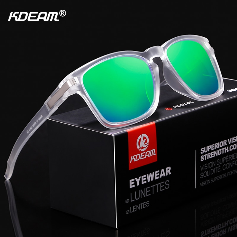 KDEAM Unisex-Fit Design Sunglasses Polarized Clean Look Shatter-resistant Sun Glasses Men Sport Shades lentes de sol