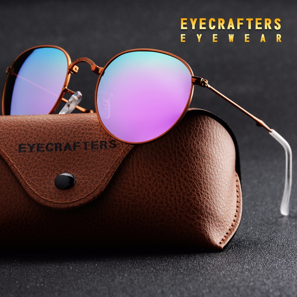 Purple Portable Foldable Folding Sunglasses Polarized Mens Womens Fashion Retro Vintage SunGlasses Driving Mirrored Eyewear