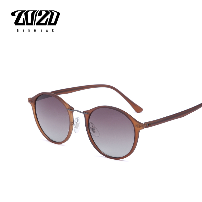 20/20 Brand New Women Sunglasses Men Mirror Polarized Driving Travel Unisex Round Glasses Brand Eyewear Oculos Gafas