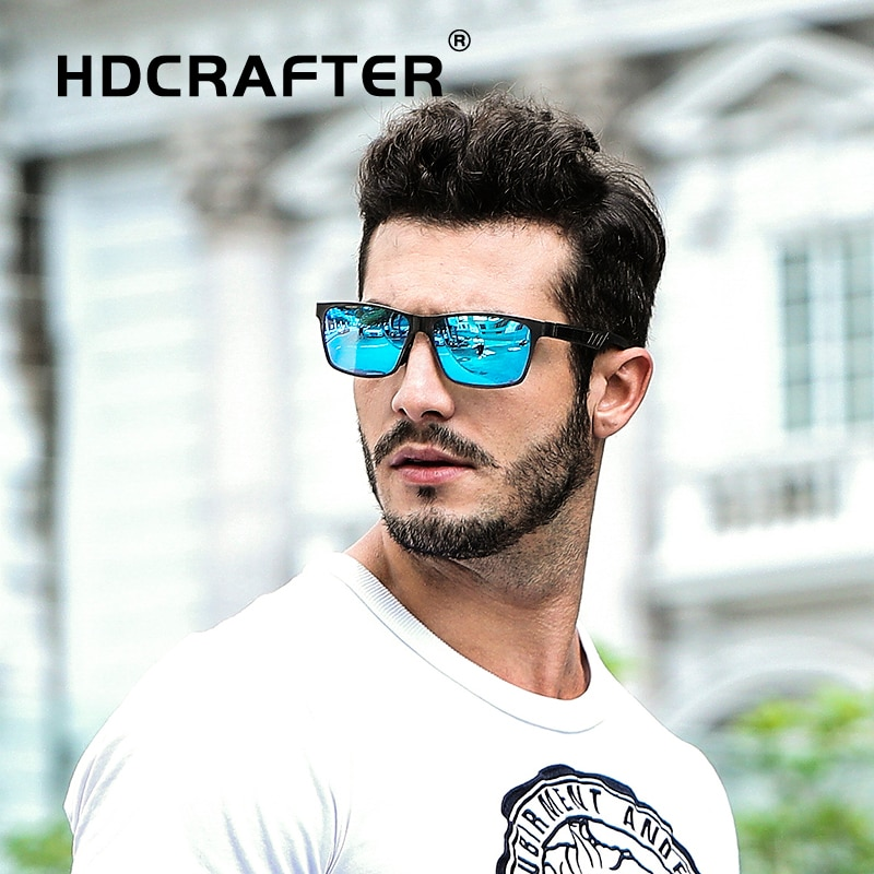 Aluminum Magnesium Sunglasses men Polarized square sun glasses male mirrored Rectangle Driving eyewear gafas de sol hombres