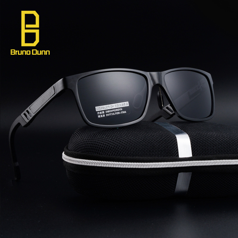 Bruno Dunn Aluminum Sunglasses Men's Polarized luxury brand design Sun Glases for male zonnebril mannen lunette de soleil homme