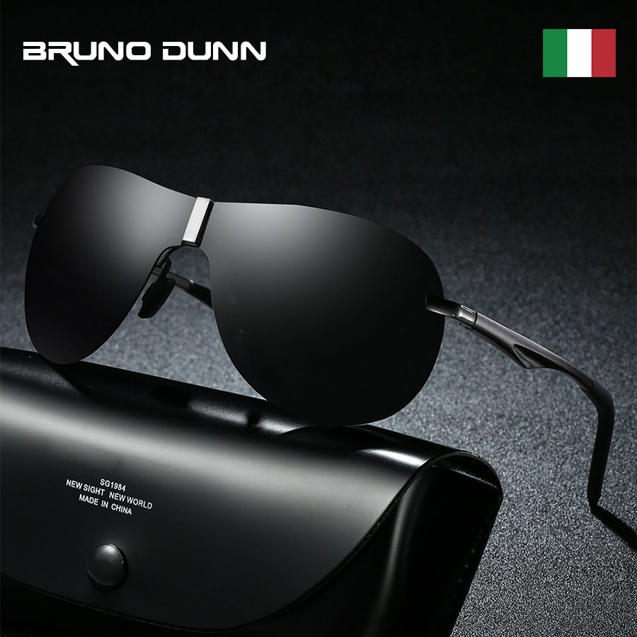 Bruno Dunn Sunglasses Men's Polarized luxury mercedes Brand Designer Sun glases for male Driving sunglases lunette soleil homme