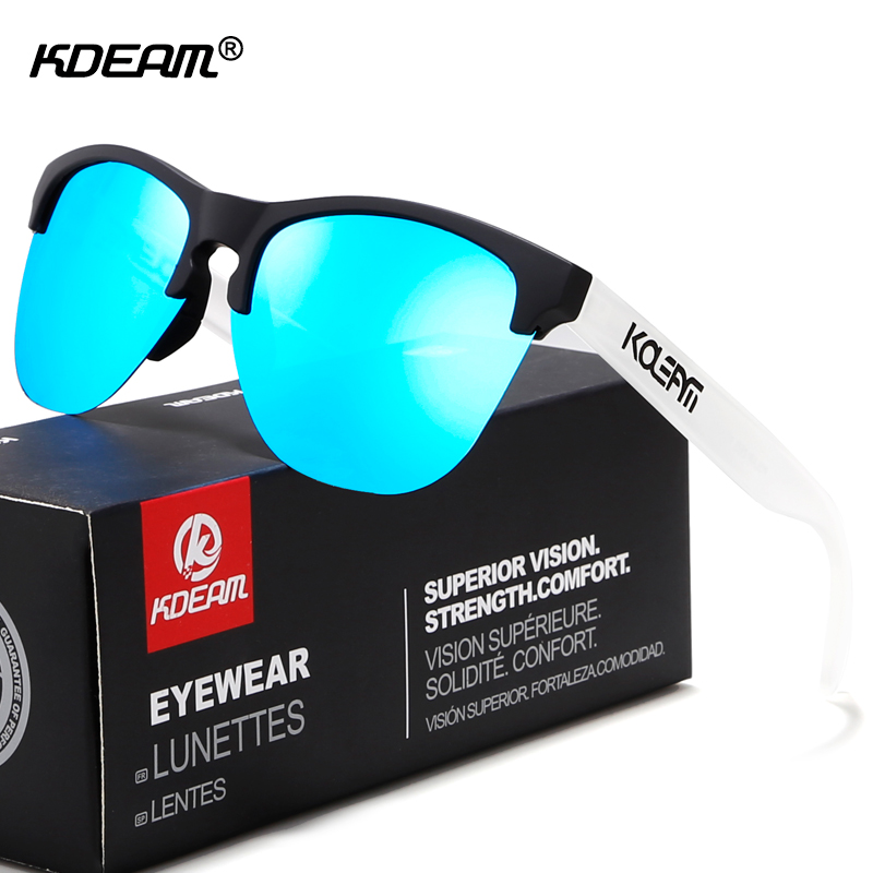 KDEAM Happy TR90 Polarized Sunglasses Life-Sport Men Sun Glasses Anti-Glare Elastic Frame Outdoor Goggles With Box