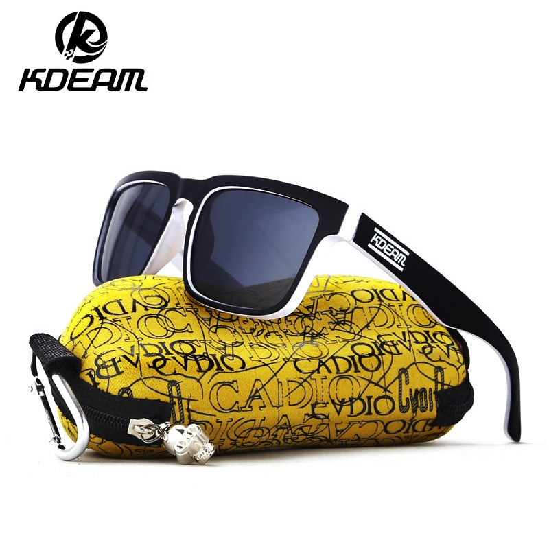 KDEAM Sports Sunglasses Men Polarized High Quality Polaroid Lens Square Sun Glasses UV Goggles HD Drive Shades Male Gafas R8738