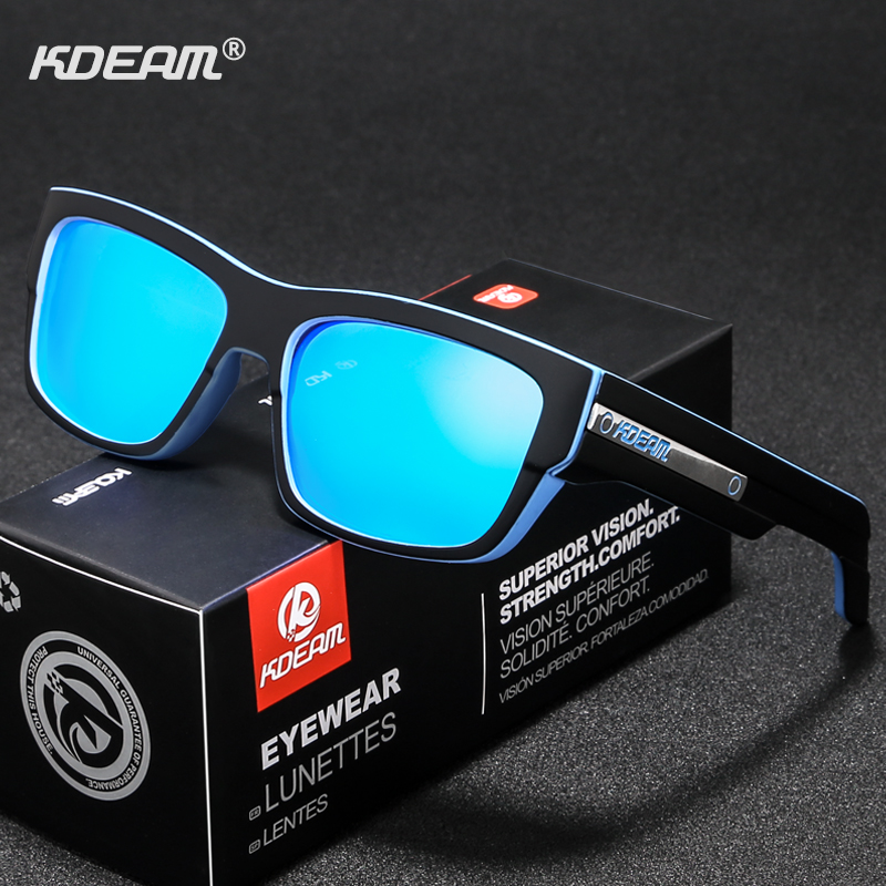 KDEAM TICE Driving Sunglasses Men Polarized Hiking Sport Sun Glasses Polarization Sturdy 5-barrel Hinges oculos KD900