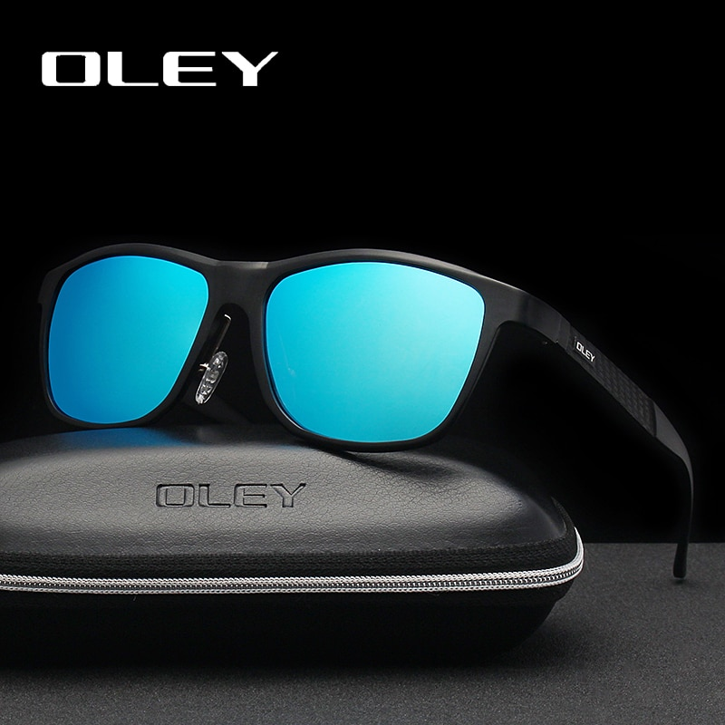 OLEY Brand Men's Polarized Sunglasses Business Classic High Quality Full Frame Aluminum Magnesium Glasses Women UV400 goggles