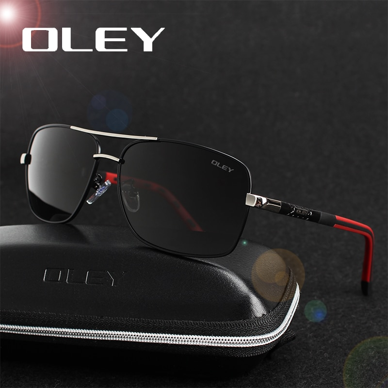 OLEY Brand Polarized Sunglasses Men New Fashion Eyes Protect Sun Glasses With Accessories Unisex driving goggles oculos de sol