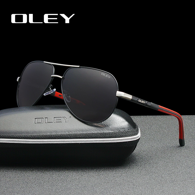 OLEY Men sunglasses Aluminum magnesium polarized pilot glasses Fashion Classic Pilot Summer Protection sun glasses Goggles UV400