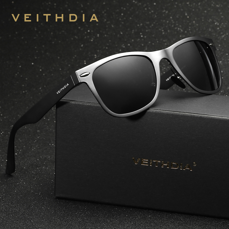 VEITHDIA Brand Designer Classic Designer Men Polarized Lens Women Sunglasses Square Sun Glasses Eyeglasses oculos de sol For Men