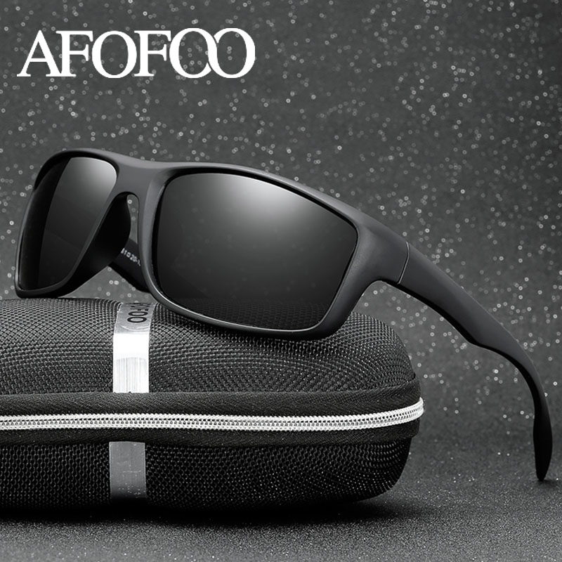 AFOFOO Classic Polarized Sunglasses Men Driving Sun Glasses Goggle Night Vision Glasses Male Eyewear UV400 Shades Oculos de sol