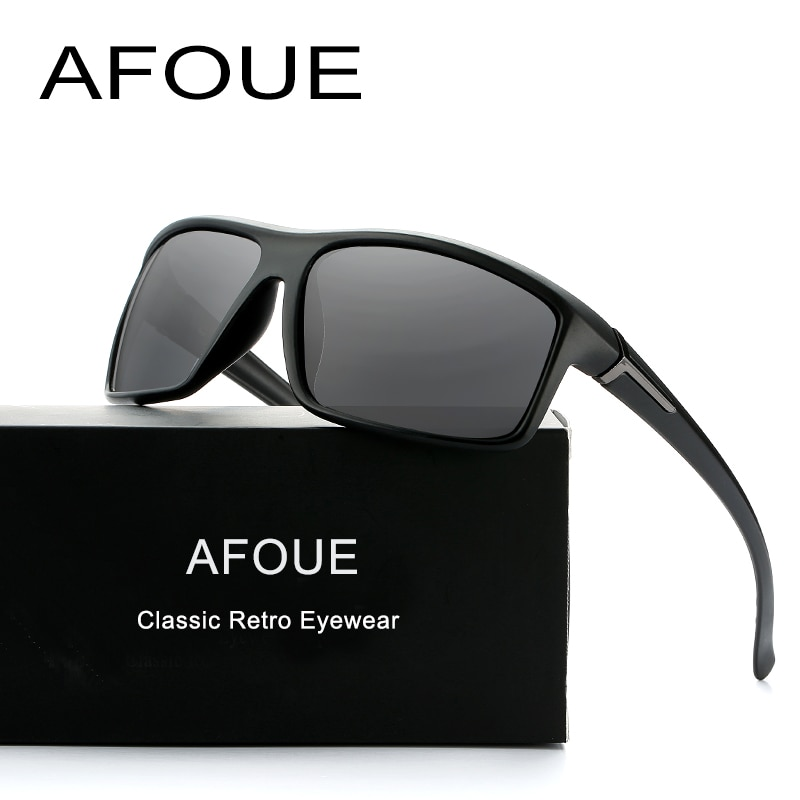 AFOUE Brand Design New Polarized Sunglasses Men Sun Glasses Male Driving Fashion Travel Eyewear UV400 Men's Oculos