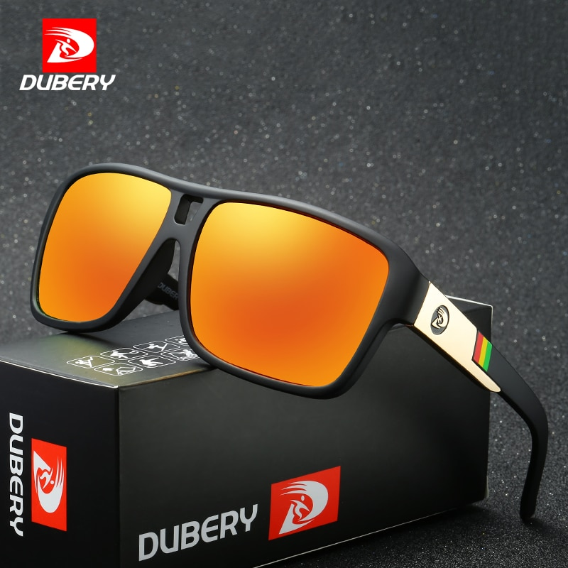 DUBERY 2018 Men's Polarized Dragon Sunglasses Aviation Driving Sun Glasses Men Women Sport Fishing Luxury Brand Designer Oculos