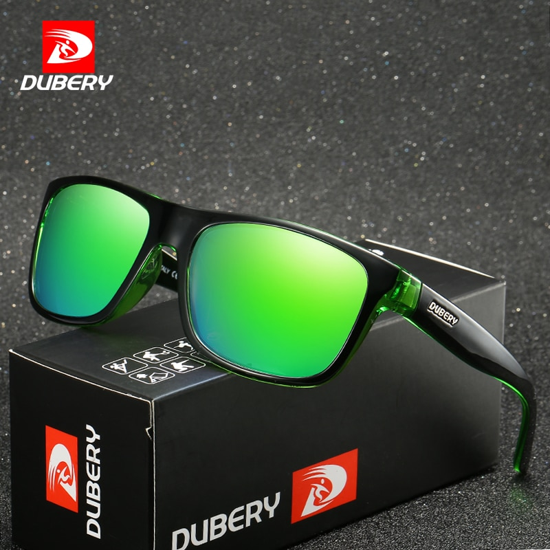 DUBERY Brand Design Polarized HD Sunglasses Men Driving Shades Male Retro Sun Glasses For Men Summer Mirror Square Oculos