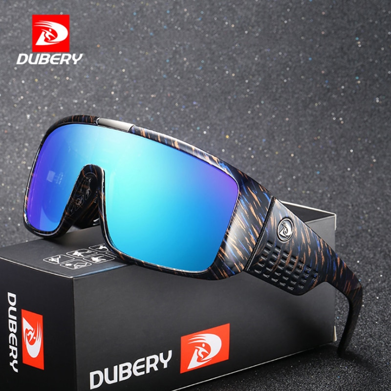 DUBERY Polarized Sunglasses Men Oversized Driver Sport Sun Glasses Brand Designer For Male Driving Goggles UV400 Oculos de YQ575