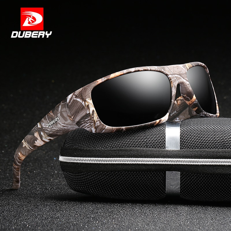 DUBERY Sport Sunglasses Polarized For Men Sun Glasses Square Driving Personality Color Mirror Luxury Brand Designer Zipper Box