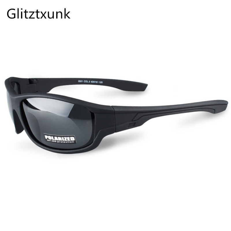 Glitztxunk 2018 New Black Polarized SunGlasses Men Sport Sunglasses UV400 Outdoor Driving Fishing Eyewear Fashion Goggles