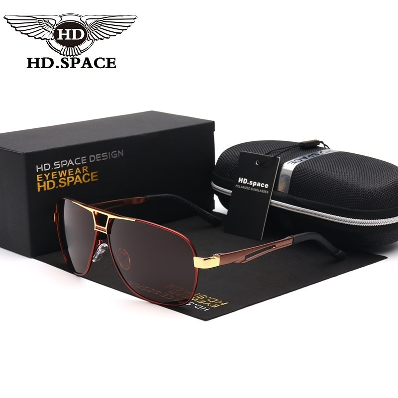HD 2018 Fashion Man Polarized Sunglasses Brand Designer Driving Glass Pilot Eyewear Outdoor Zonnebril Casual Oculos De Sol LD020