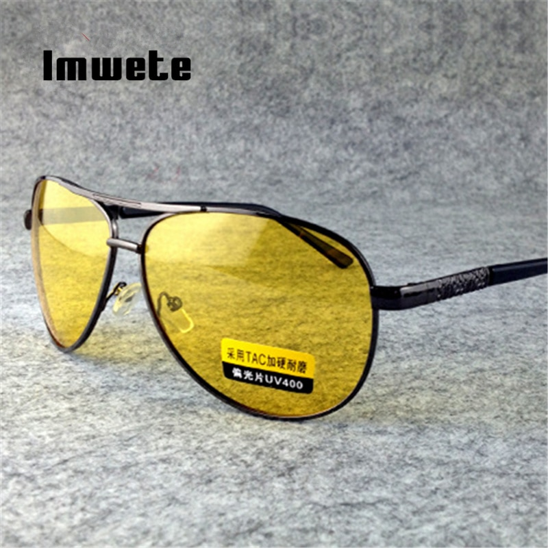 Imwete Polarized Sunglasses Men Women Night Vision Driving Glasses Goggles Driver Yellow Sun Glasses UV400