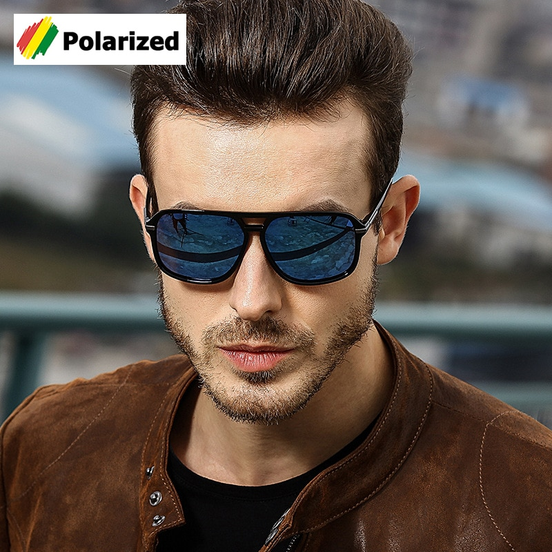 JackJad 2018 Fashion Classic Square Aviation Style Polarized Sunglasses Men Driving Brand Design Sun Glasses Oculos De Sol A523