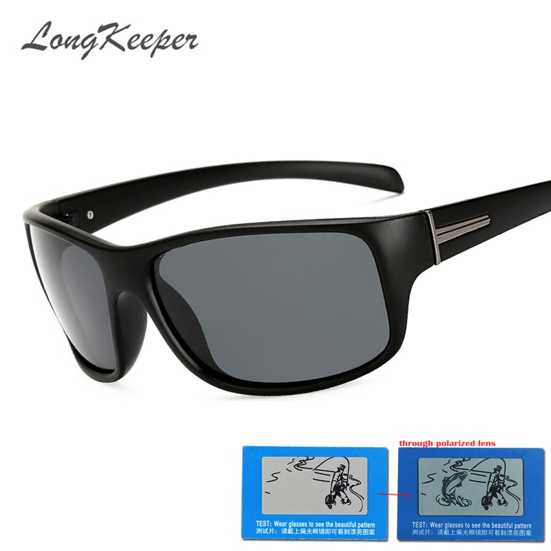 LongKeeper Brand Classic Men's Polarized Sunglasses Men Driving Sun Glasses Vintage Plastic Frame Goggle Male Eyewear Gafas