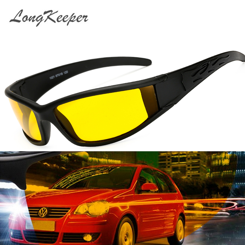 LongKeeper Hot Sale Car Drivers Night Vision Goggles Anti-glare Polarizer Sunglasses Men Driving Sun Glasses Male Accessories