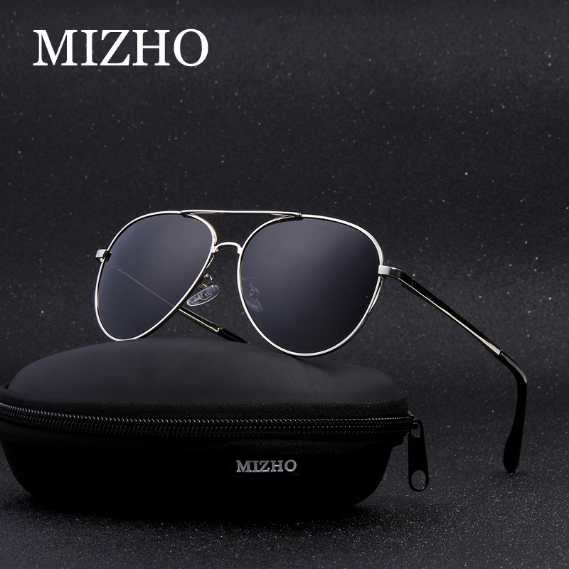MIZHO Hot Elastic Support Leg Classic Aviation Metal Sunglasses Men Polarized UV400 Protector Drivers Car Sunglasses For Women