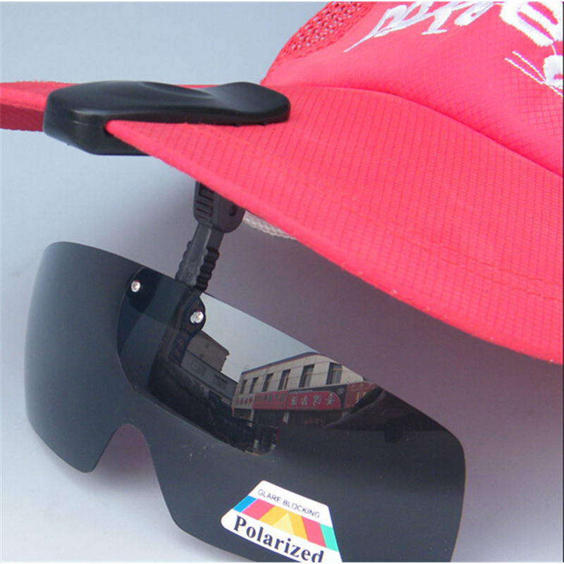 New Arrival Polarized Hat Visors Sport Clips Cap Clip-on Sunglasses For Fishing Biking Hiking Golf Eyewear Free Shipping A1