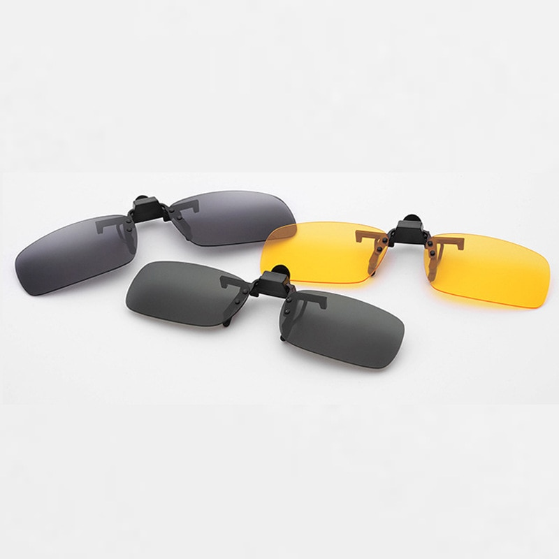 Night Vision Women Men Clip On Sunglasses Designer Brand Polarized Sun Glasses Yellow Driving Glasses Gafas De Sol
