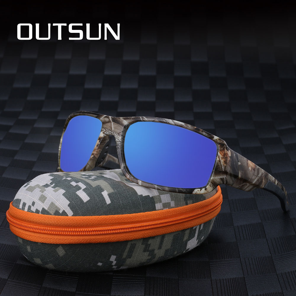 OUTSUN 2018 Polarized Sunglasses Men Women Sport fishing Driving Sun glasses Brand Designer Camouflage Frame De Sol