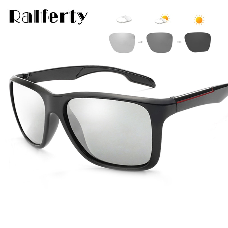 Ralferty 2018 Photochromic Polarized Sunglasses Men Car Driving Goggles Chameleon Sunglass Male HD Discoloration Glasses K1037