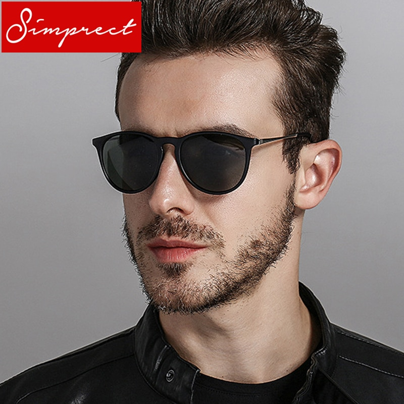 SIMPRECT 2018 Retro Sunglasses Men Polarized UV400 High Quality Driving Round Sun Glasses Brand Vintage Lunette De Soleil Homme