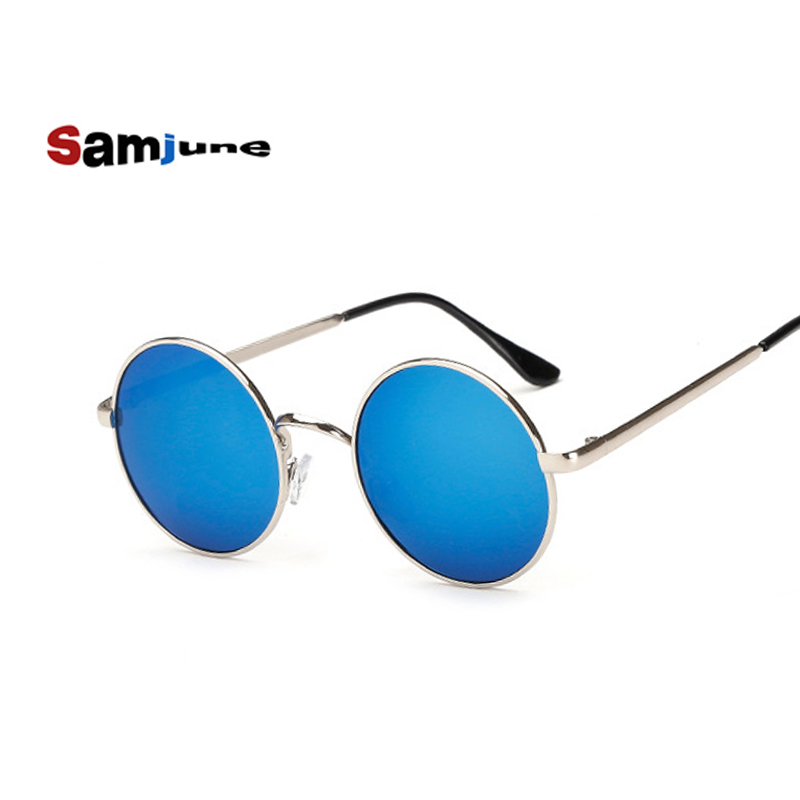 Samjune New Brand Designer Classic Polarized Round Sunglasses Men Small Vintage Retro John Lennon Glasses Women Driving Eyewear