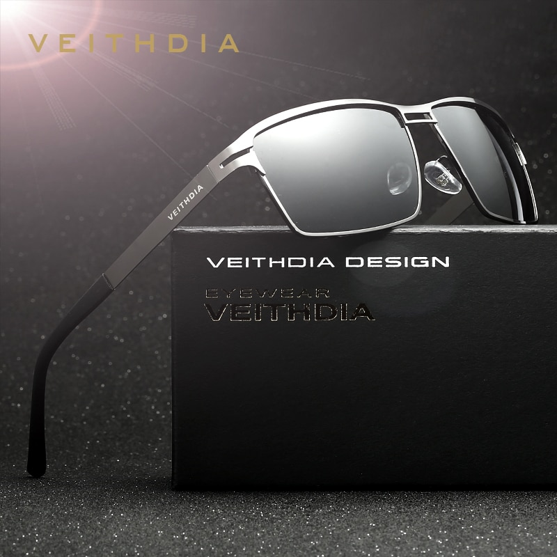 VEITHDIA Brand Stainless Steel Men's Sun Glasses Polarized Oculos masculino Male Eyewear Accessories Sunglasses For Men 2711