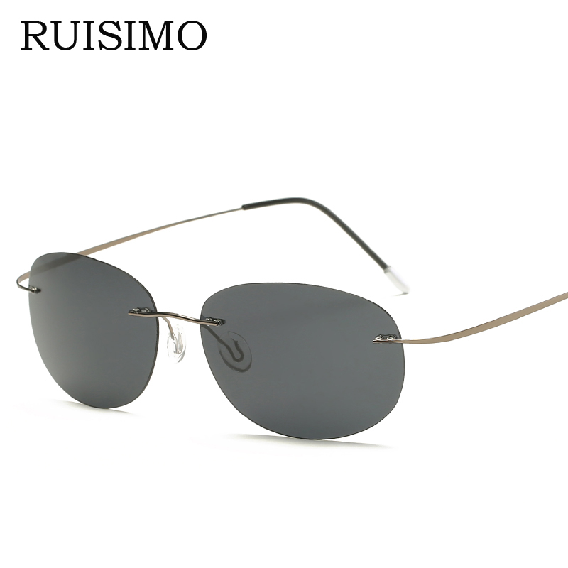 With case Polarized Titanium sunglasses Polaroid Brand Designer Gafas Men round Sun glasses sunglasses for men