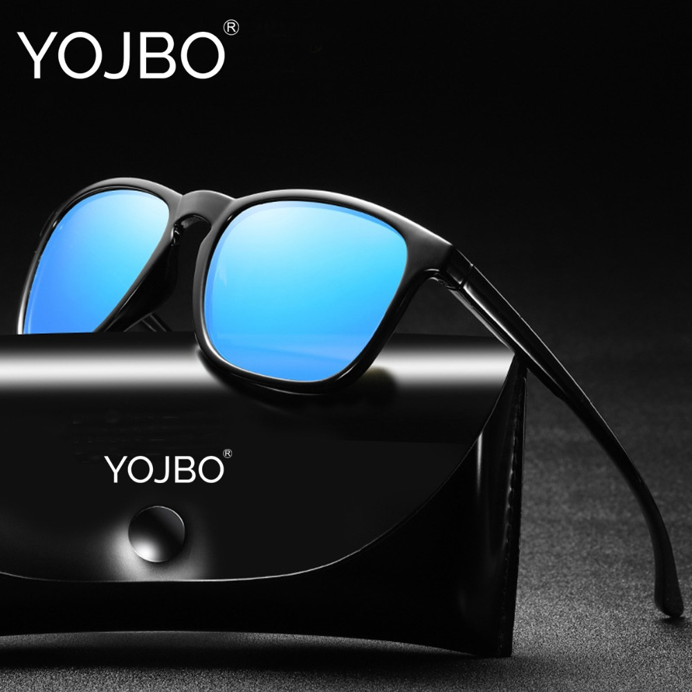 YOJBO Brand Sunglasses Men Polarized 2018 Fashion Mirror Lady Glasses UV400 Retro Famous Brand Designer Vintage Women Sunglass