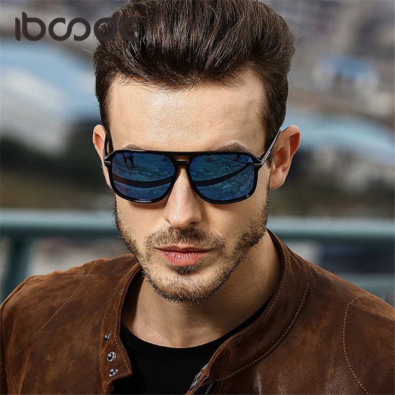 iboode Classic Vintage Men Polarized Sunglasses Personalized Cool Driving Fishing Shades for Male Mercury gafas de sol UV400