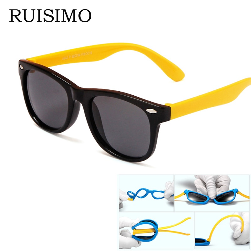 rubber frame New Children TAC Polarized Sunglasses Kids sunglasses sun glasses For Girls Boys Goggle Baby Glasses retro eyewear